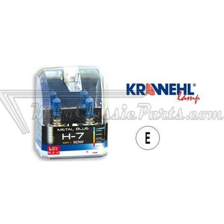 2 lámparas METAL BLUE H7 12V 55W