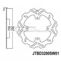 Disco de freno JT Braking 3200SW01