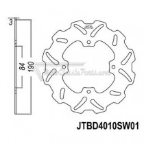 Disco de freno JT Braking 4010SW01
