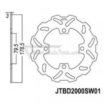 Disco de freno JT Braking 2000SW01