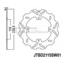 Disco de freno JT Braking 2115SW01
