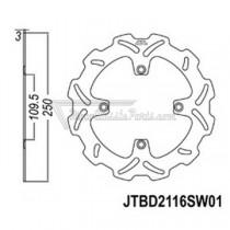Disco de freno JT Braking 2116SW01