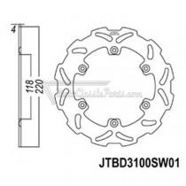 Disco de freno JT Braking 3100SW01