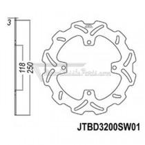 Disco de freno JT Braking 3200SW01