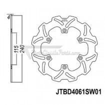 Disco de freno JT Braking 4061SW01