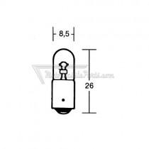 2 bombillas Krawehl BA9S MCC 12V 4W