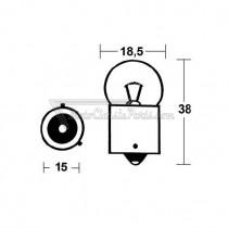 2 bombillas Krawehl BA15S Ambar 12V 21W