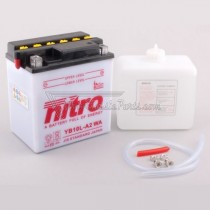 Batería NITRO tipo: YB10L-A2 (DB10L-A2, CB10L-A2)
