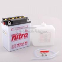 Batería NITRO tipo: YB12A-A (CB12A-A, DB12A-A)