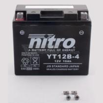 Batería NITRO tipo: YT12B-4 (GT12B-4, CT12B-4)