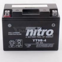 Batería NITRO tipo: YT9B-4 (GT9B-4, DT9B-4, CT9B-4)