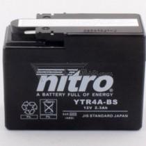 Batería NITRO tipo: YTR4A-BS (GTR4A-BS, DTR4A-BS)