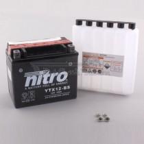 Batería NITRO tipo: YTX12-BS (CTX12-BS, GTX12-BS, DTX12-BS)