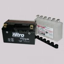 Batería NITRO tipo: YTX7A-BS (DTX7A-BS, CTX7A-BS, GTX7A-BS)