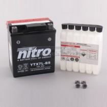 Batería NITRO tipo: YTX7L-BS (CTX7L-BS, DTX7L-BS, GTX7L-BS)