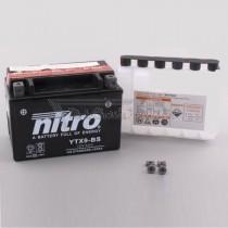 Batería NITRO tipo: YTX9-BS (GTX9-BS, CTX9-BS, DTX9-BS)